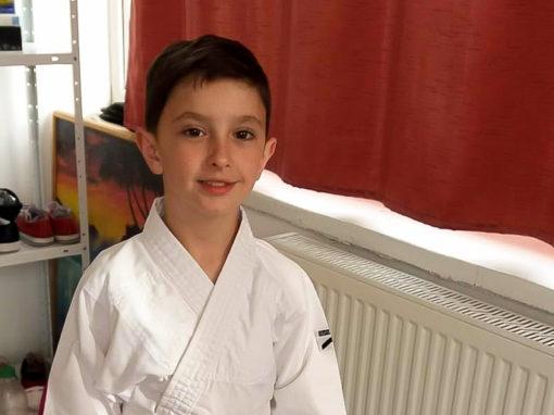 Gabriel Hrici, pasionat de matematică și de karate